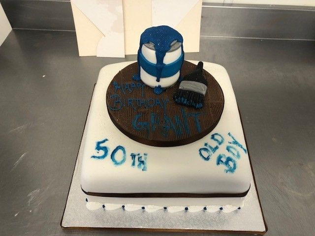 Paint Tin 50th Birthday Cake: Swipe To View More Images