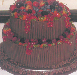 Chocolate Delight Wedding Cake